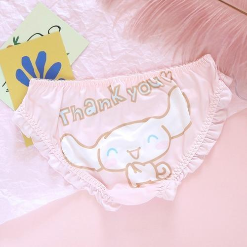 Well Thank You Kawaii Panties - Pink Thanks! / L - cinnamoroll, fairy kei, fairykei, littlespace, melody