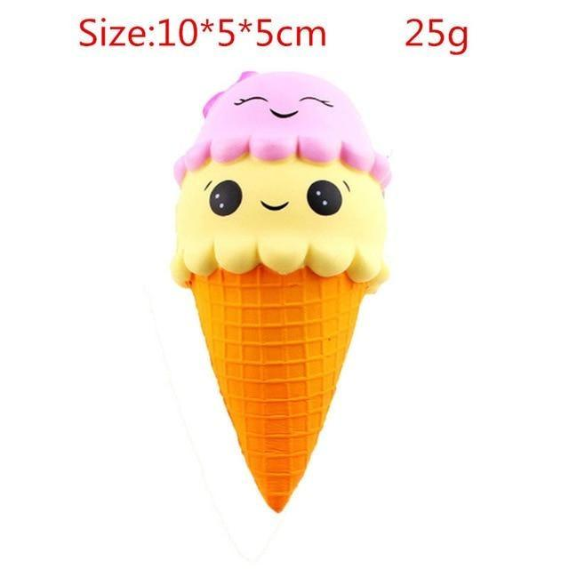 Kawaii Squishies (40+ Styles) - 10cm Double Scoop Icecream - squishy