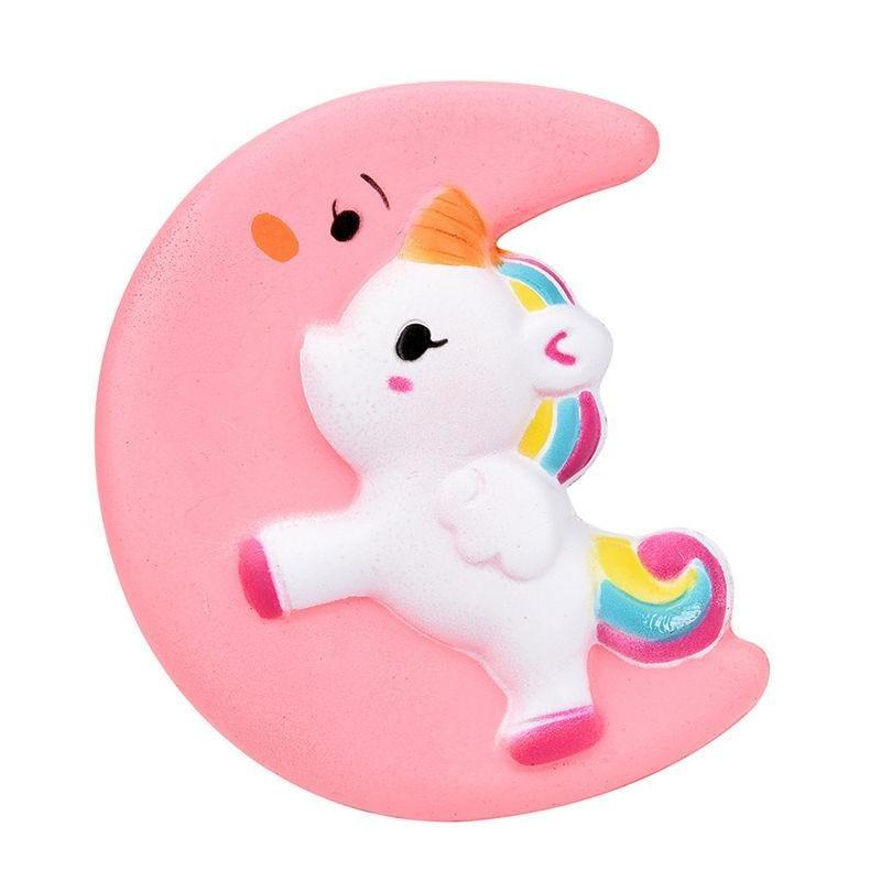Kawaii Squishies (40+ Styles) - 10cm Pink Moon Unicorn - squishy