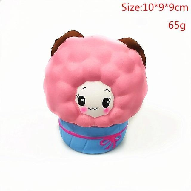 Kawaii Squishies (40+ Styles) - 10cm Pink Sheep - squishy