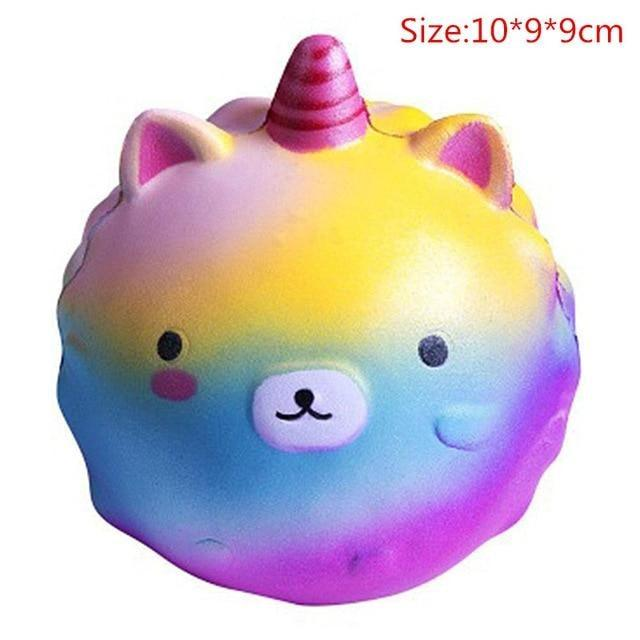 Kawaii Squishies (40+ Styles) - 10cm Rainbow Unicorn Ball - squishy