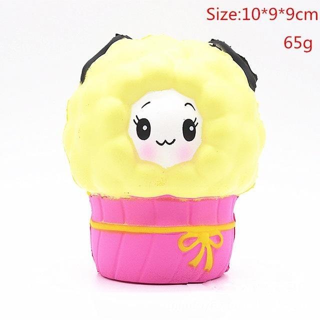 Kawaii Squishies (40+ Styles) - 10cm Yellow Sheep - squishy