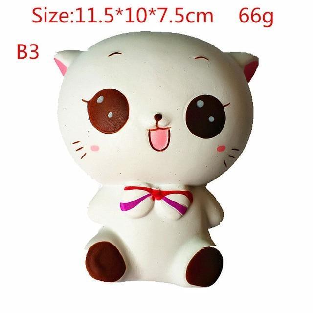 Kawaii Squishies (40+ Styles) - 11.5cm Kawaii White Kitty - squishy