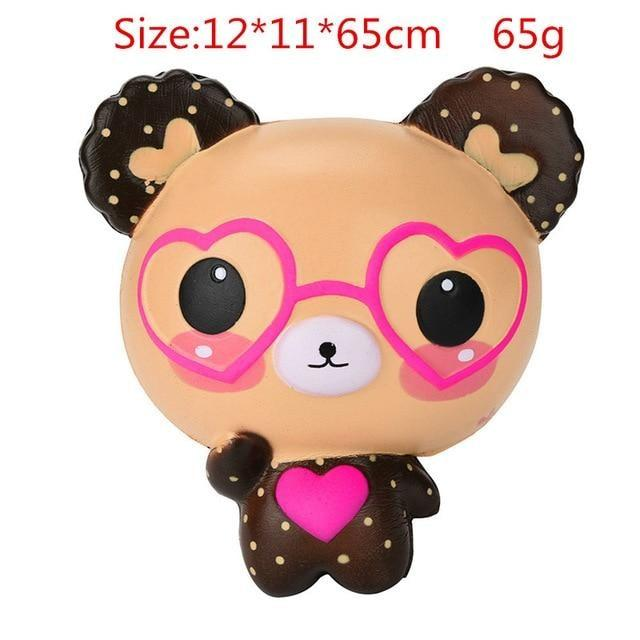 Kawaii Squishies (40+ Styles) - 12cm Bear With Glasses - squishy
