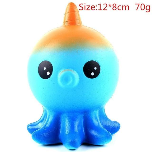 Kawaii Squishies (40+ Styles) - 12cm Blue Octopus - squishy