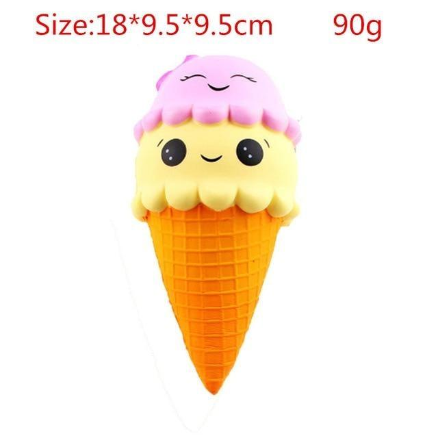 Kawaii Squishies (40+ Styles) - 18cm Double Scoop Icecream - squishy