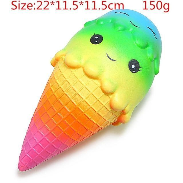 Kawaii Squishies (40+ Styles) - 22cm Rainbow Icecream - squishy