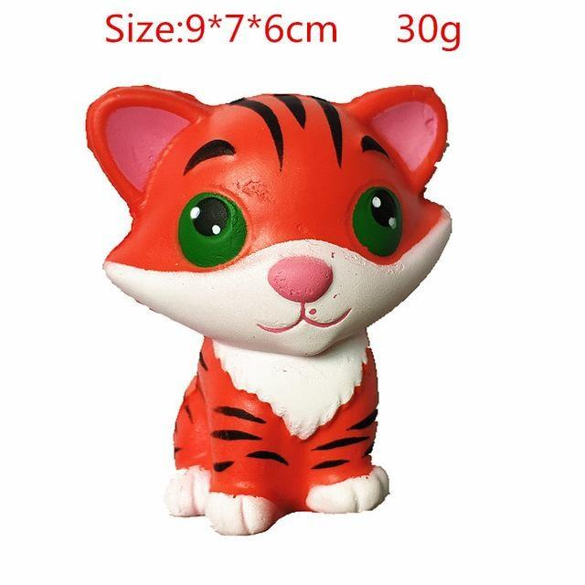 Kawaii Squishies (40+ Styles) - 9cm Red Tiger - squishy