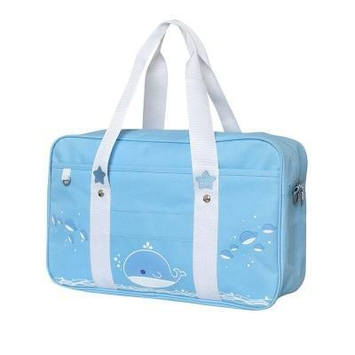 Kitten Duffle Bag - Blue Whale - Bags