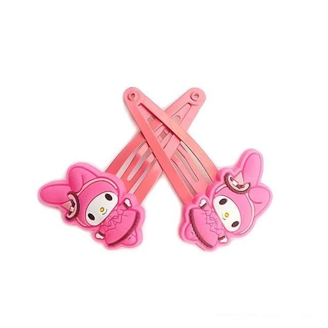 Kuromi Clippies - Melody Pink Hair Clips - accessories
