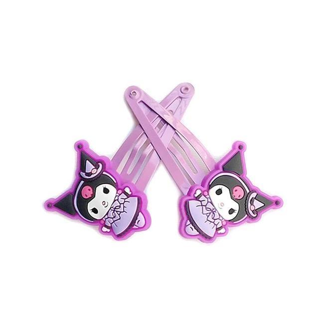 Kuromi Clippies - Kuromi Purple Clips - accessories