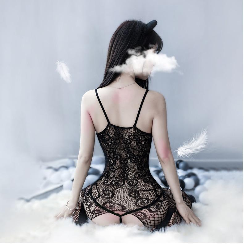 Lace Fishnet Bodysuit - bodysuit, bodysuits, catsuit, fishnets, lace