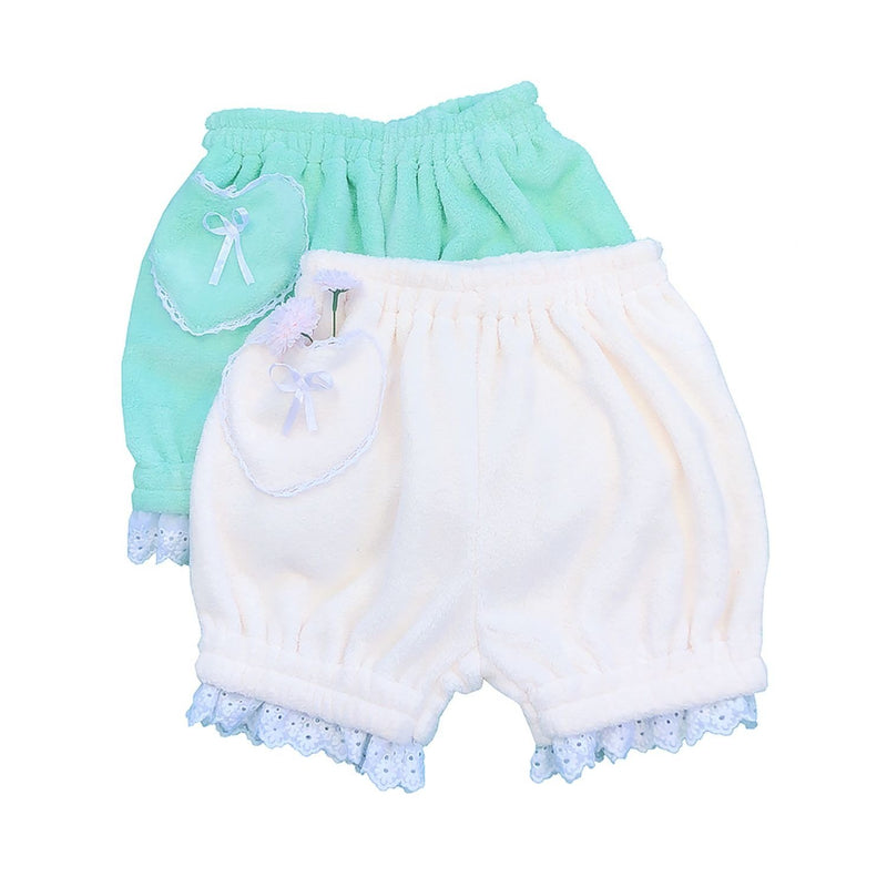 Lace Trim Bloomers - bloomer shorts, bloomers, bow knot, bows, elastic waist