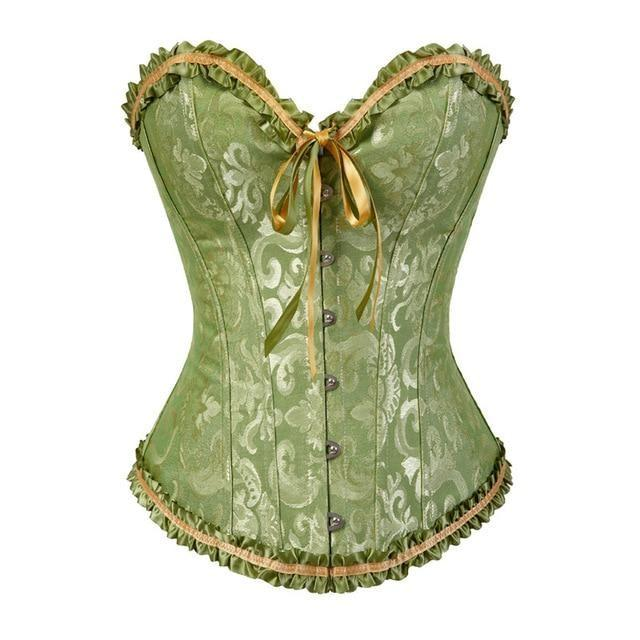Lady In Lace Genuine Corsets - Green / 6XL - bustier