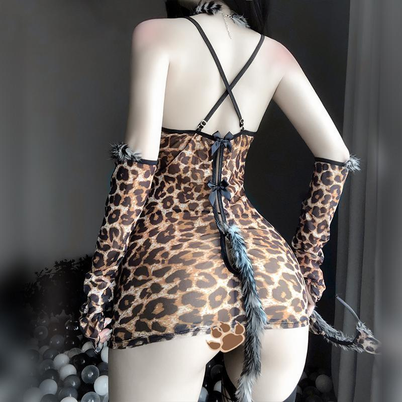 Little Leopard Cosplay Lingerie Set - cat, cat lingerie, clothes, clothing, cosplays