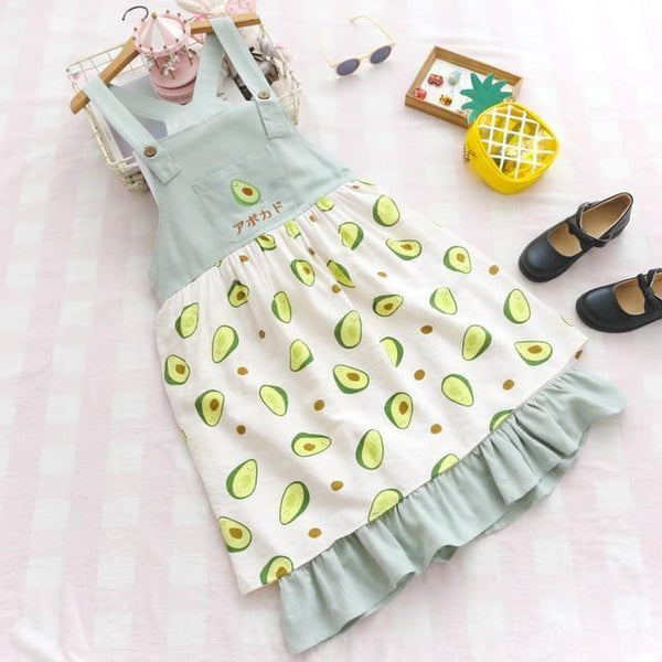 Little Avocado Dress - Blue Dress - dress