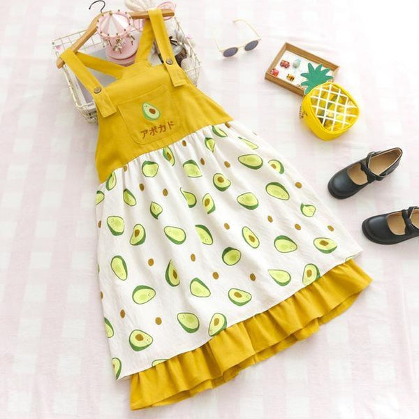 Little Avocado Dress - Yellow Dress - dress