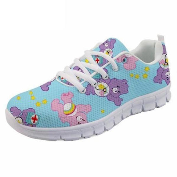 Kawaii Care Bear Athletic Running Shoes Sneakers Cute Little Space ABDL Fashion Fairy Kei