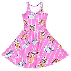 Pink Baby Bunny Skater Dress Kawaii Fashion CGL Pet Play ABDL Little Space