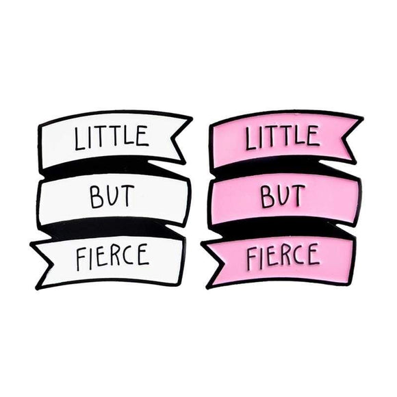 Little But Fierce Enamel Pin Kawaii ABDL Lapel Brooch Age Play Kink Fetish