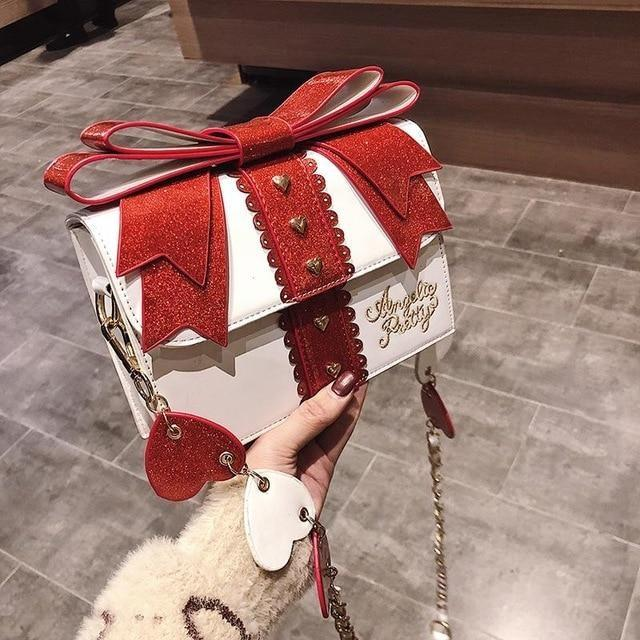 Little Gift Handbag - White - purse