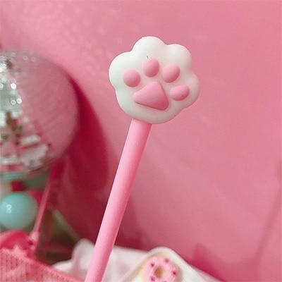 Little Paw Gel Pens - Pink Paw Pen - stationary