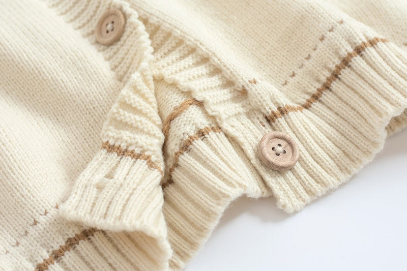 Brown Peter Rabbit Cardigan Sweater Knit Embroidery Kawaii Mori Girl