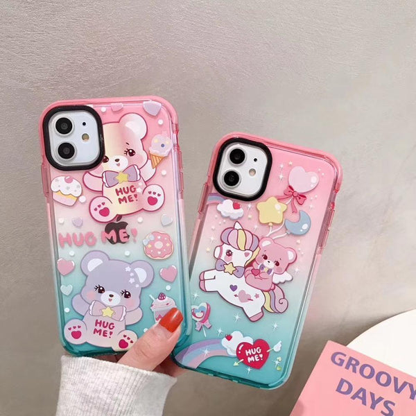 Littlespace Bear iPhone Case - apple iphone,carebear,fairy kei,fairykei,hug me