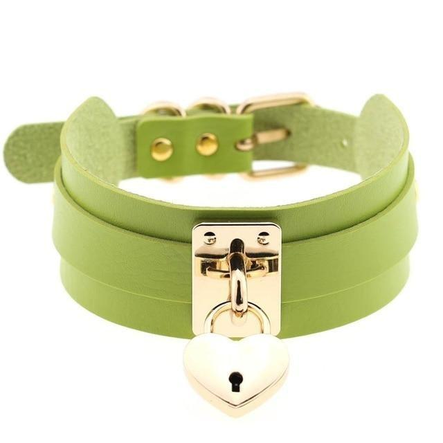 Locket Collar - Green - collar