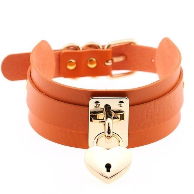 Locket Collar - Orange - collar
