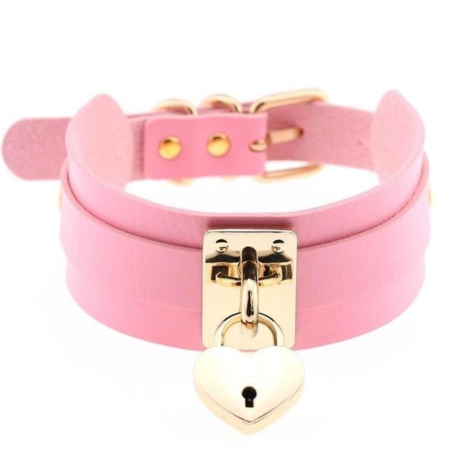 Locket Collar - Pink - collar