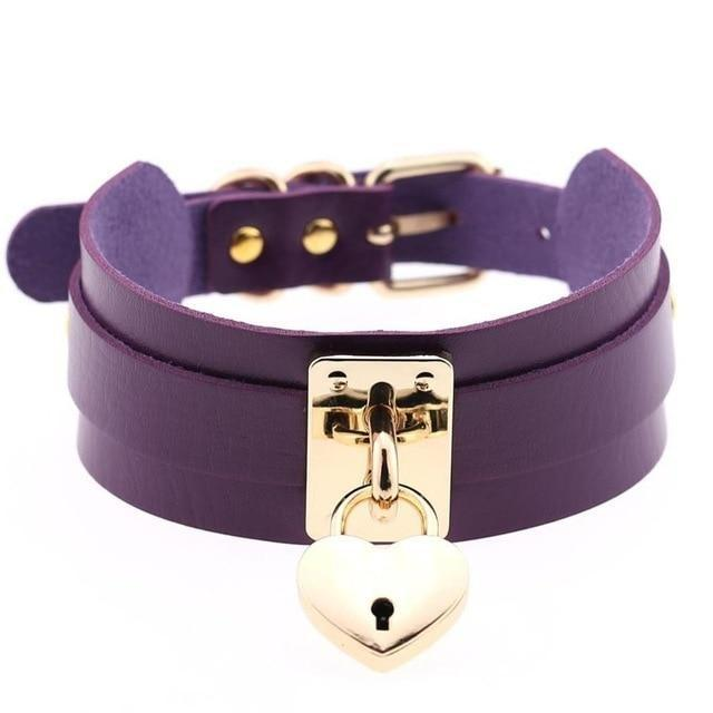 Locket Collar - Purple - collar