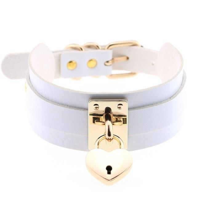 Locket Collar - White - collar