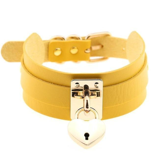 Locket Collar - Yellow - collar