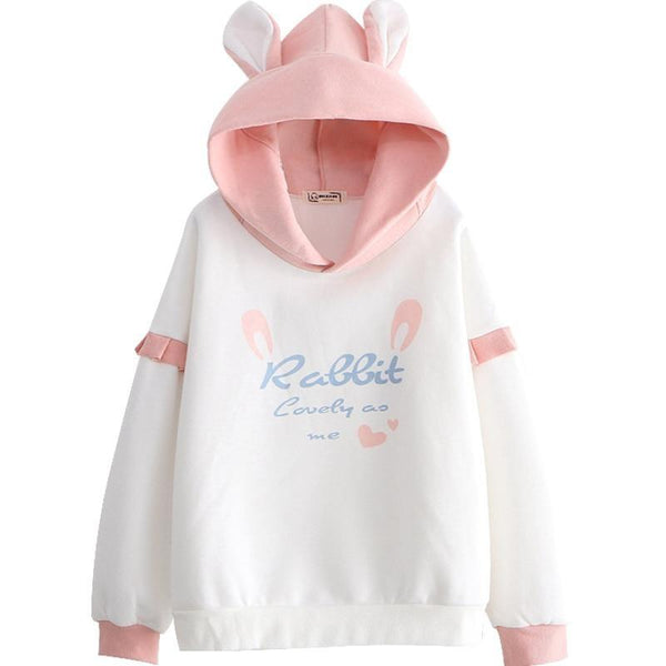Lovely Rabbit Hoodie - Pink bunny - sweater