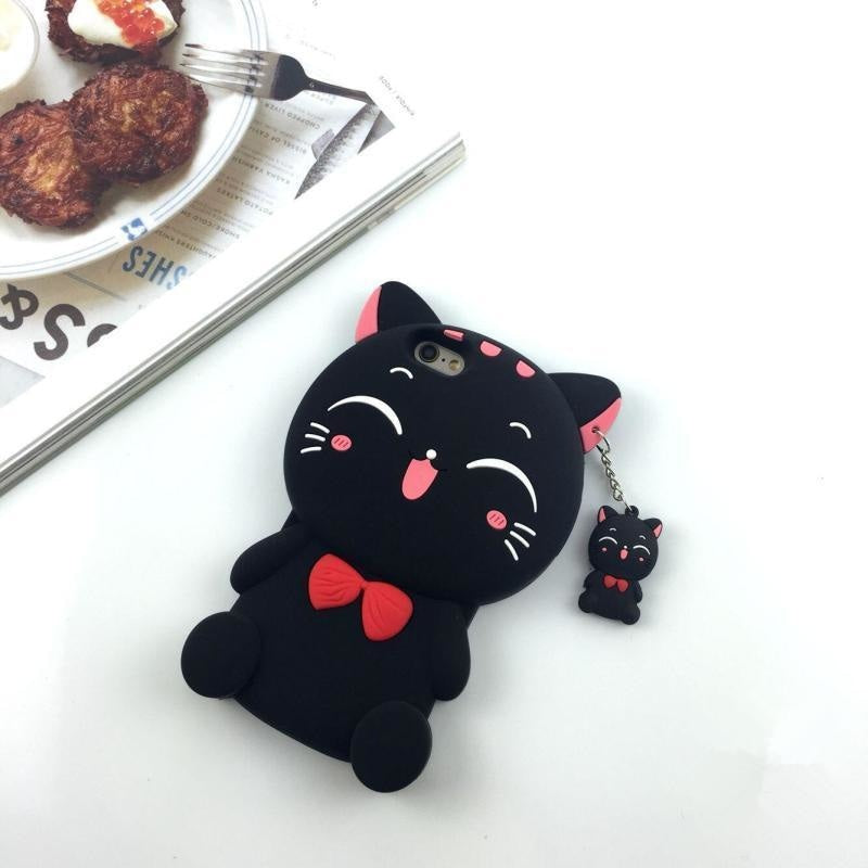 Lucky Cat iPhone Case - Black / iPhone 5 5S - Phone Case