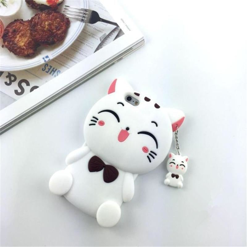 Lucky Cat iPhone Case - White / iPhone 5 5S - Phone Case