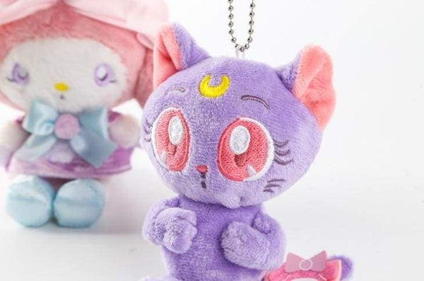 Sailor Moon Luna Cat Keychain Plush Stuffed Animal Toy Anime Sailormoon Kawaii Fairy Kei by DDLG Playground