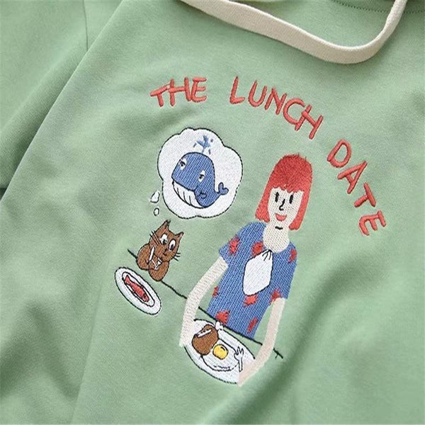 Lunch Date Hoodie - sweater