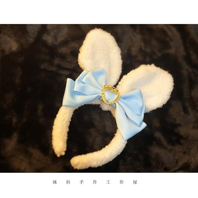 Luxury Bunny Headband - Baby Blue - bags