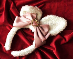 Luxury Bunny Headband - Dusty Rose - bags