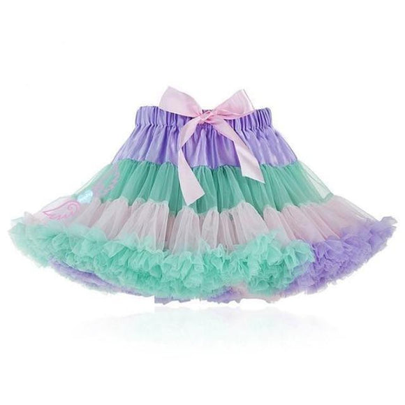 Milky Pastel Tutu Petticoat Skirt Fairy Kei Kawaii Fashion Silk Ribbon Lace Ruffles and Bows