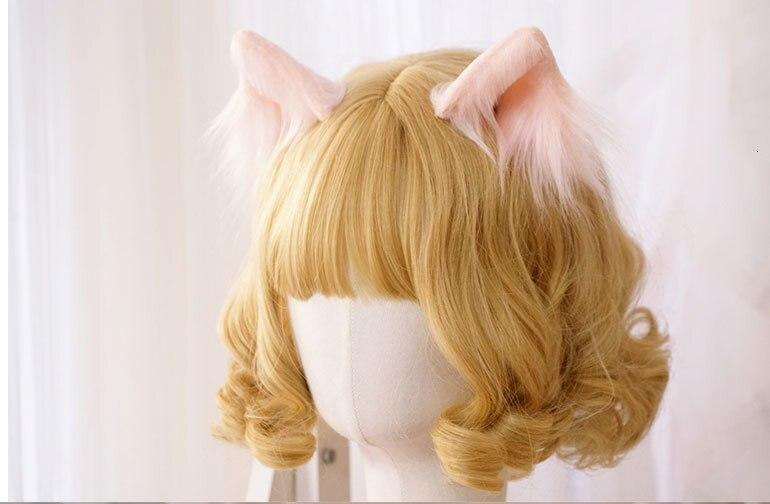 Luxury Realistic Neko Ears - Pink - hair clips