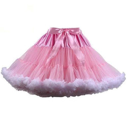 Pink Silk Lace Tutu Skirt Petticoat Luxury Ballerina Ballet Kawaii Princess Fashion Little Space CGL by DDLG Playground