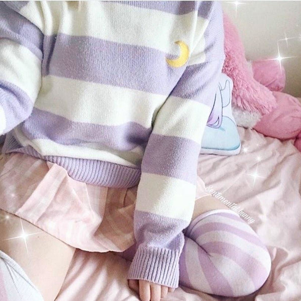 Magic Moon Knit Sweater - sweater