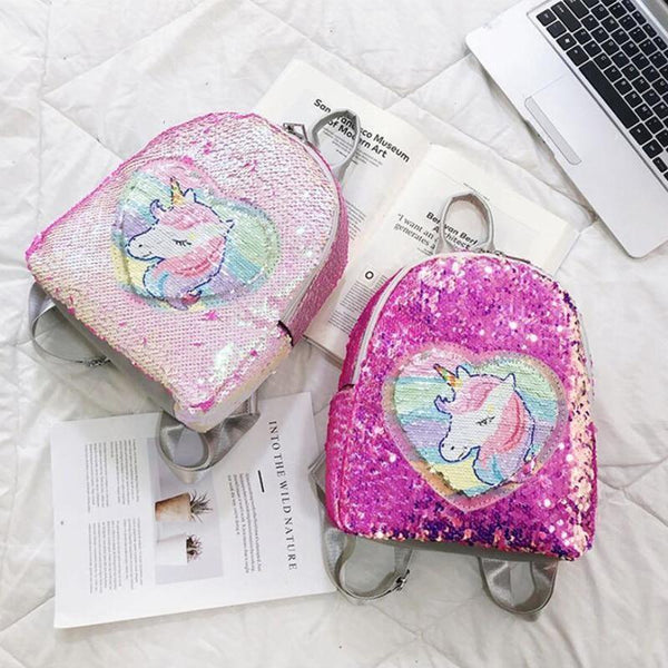 Magic Sequin Unicorn Backpack - bag