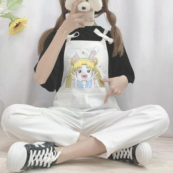 Magical Girl Overalls - White / L - jumper
