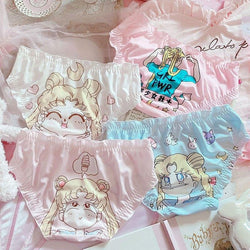 Magical Girl Panty Set (4 Pairs!) - 4 Pairs / M - angel, angel underwear, undies, angelic, angels