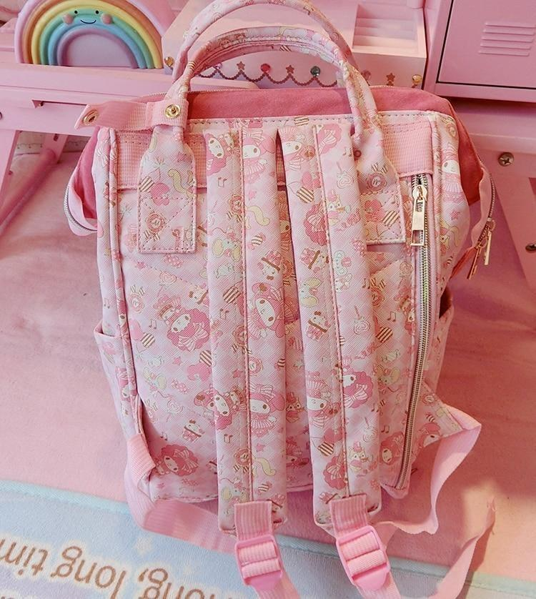 Pink Kawaii My Melody Backpack Rucksack Fairy Kei Harajuku Fashion