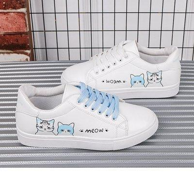 Meow Runners - blue cats / 4 - shoes